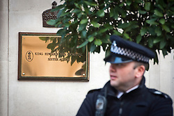 © London News Pictures. File picture dated 07/12/2012. Police outside King Edward VII Hospital in London  December 07, 2012 following the suicide of nurse Jacintha Saldanha. Reports have today suggested that Jacintha Saldanha was critical of staff at the hospital in her suicide note.  Photo credit: Ben Cawthra/LNP
