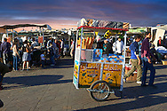Food stalls in the Jemaa el-Fnaa square in  Marrakech, Morocco .<br /> <br /> Visit our MOROCCO HISTORIC PLAXES PHOTO COLLECTIONS for more   photos  to download or buy as prints https://funkystock.photoshelter.com/gallery-collection/Morocco-Pictures-Photos-and-Images/C0000ds6t1_cvhPo<br /> .<br /> <br /> Visit our ISLAMIC HISTORICAL PLACES PHOTO COLLECTIONS for more photos to download or buy as wall art prints https://funkystock.photoshelter.com/gallery-collection/Islam-Islamic-Historic-Places-Architecture-Pictures-Images-of/C0000n7SGOHt9XWI