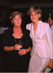 Left to right, MRS CHARLES PALMER-TOMKINSON and her daughter MISS SANTA PALMER-TOMKINSON at a fashion show in London on 11th September 1998.MJW 17