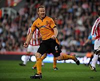 Fotball<br /> England<br /> Foto: Fotosports/Digitalsport<br /> NORWAY ONLY<br /> <br /> Britannia Stadium Stoke City v Wolverhampton Wanderers 31/10/09<br /> Jody Craddock  (Wolves) celebrates his  second goal