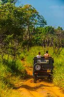 Safari vehicle, Hurulu Eco Park, Habarana, North Central Province, Sri Lanka.