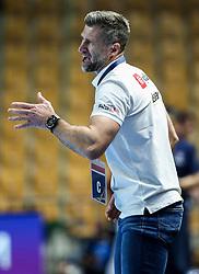 Tomaz Ocvirk, head coach of Celje during handball match between RK Celje Pivovarna Lasko (SLO) and Paris Saint-Germain Handball (FRA) in Round of 16 of EHF Champions League 2020/21, on April 1, 2021 in Arena Zlatorog, Celje, Slovenia. Photo by Vid Ponikvar / Sportida
