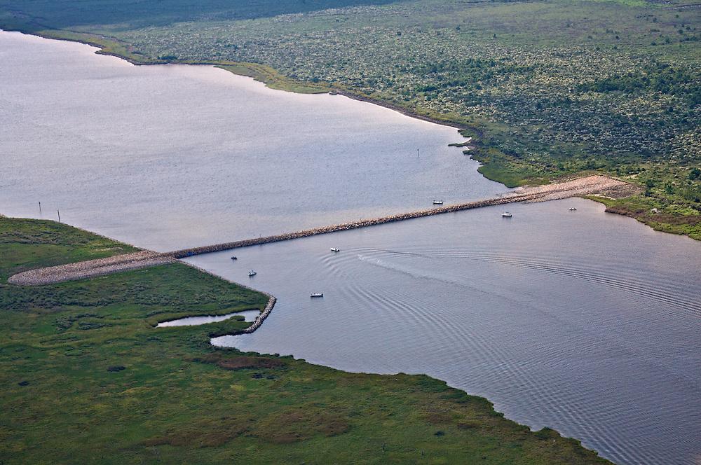 Rock Dam at Bayou la Loutre