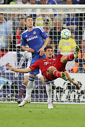 19.05.2012, Allianz Arena, Muenchen, GER, UEFA CL, Finale, FC Bayern Muenchen (GER) vs FC Chelsea (ENG), im Bild Fallrueckzieher von Mario GOMEZ (Bayern Muenchen) // during the Final Match of the UEFA Championsleague between FC Bayern Munich (GER) vs Chelsea FC (ENG) at the Allianz Arena, Munich, Germany on 2012/05/19. EXPA Pictures © 2012, PhotoCredit: EXPA/ Eibner/ Eckhard Eibner..***** ATTENTION - OUT OF GER *****