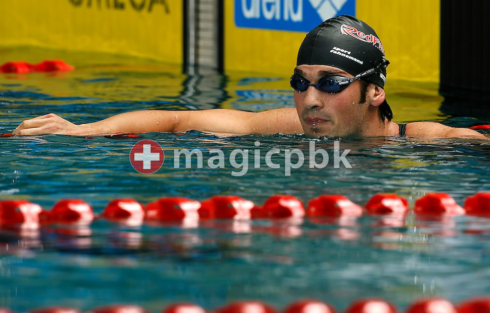 John HERZIG of Switzerland is pictured after  competing in the men's 200m freestyle final in the Hallenbad Oerlikon at the Swimming Swiss Championships in Zurich, Switzerland, Friday 11 May 2007. (Photo by Patrick B. Kraemer / MAGICPBK)