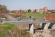 Nosedo, Milano : Impianto di depurazione delle acque reflue. nella foto i collettori di ingresso dell'acqua. Nosedo Waste Water Treatment plant