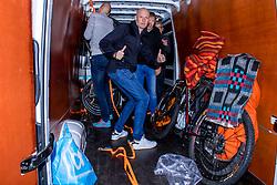 10-09-2017 FRA: BvdGF Tour du Mont Blanc day 1, Beaufort <br /> Vandaag vertrekken we vanuit Papendal in Arnhem naar naar het plaatsje Beaufort (nabij Chamonix) in Frankrijk / Tjebbe, Peter