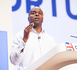 Conservative Party Conference <br /> At the ICC, Birmingham, West Midlands, Great Britain <br /> 3rd October 2018 <br /> Final day <br /> <br /> Shaun Bailey <br /> Conservative candidate for the Mayor of London elections <br /> <br /> <br /> Photograph by Elliott Franks