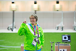 Polonca Sladic, coach of Slovenia after the Men's R5-10m Air Rifle Prone shooting Qualifications during Day 4 of the Summer Paralympic Games London 2012 on September 1, 2012,  in Royal Artillery Barracks, London, Great Britain. (Photo by Vid Ponikvar / Sportida.com)