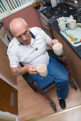 Man making a cup of tea,