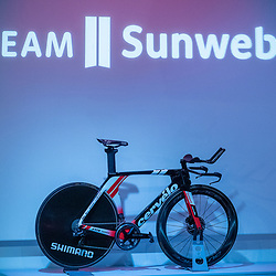 10-12-2019: Wielrennen: Teampresentatie Sunweb: Amsterdam<br />Cervelo gear time trail bike