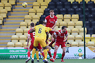 Aberdeen's Tommie Hoban (3) heads clear during the Scottish Premiership match between Livingston and Aberdeen at Tony Macaroni Arena, Livingstone, Scotland on 1 May 2021.