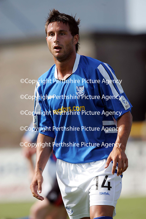 Forfar v St Johnstone....Pre-Season Friendly-15.07.06<br />Trialist from Barcelona Manuel Pressegeur<br /><br />Picture by Graeme Hart.<br />Copyright Perthshire Picture Agency<br />Tel: 01738 623350  Mobile: 07990 594431