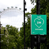 Keep 2M Distance poster;<br />