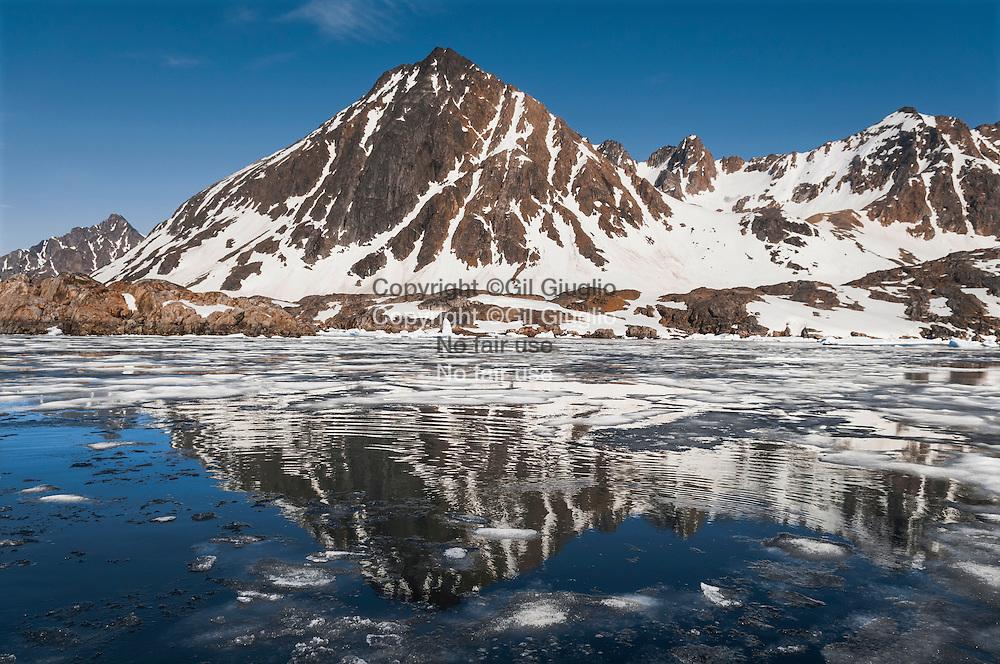 Groenland, sud est, région de Sermersooq, fjord aux environs de Kuummiut // Greenland, Eastern Greenland, region of Sermersooq, fjord area of Kuummiut