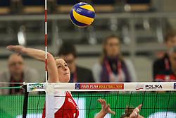 04.01.2014, Atlas Arena, Lotz, POL, FIVB, Damen WM Qualifikation, Polen vs Spanien, im Bild Eleonora DZIEKIEWICZ (POL) // Eleonora DZIEKIEWICZ (POL) during the ladies FIVB World Championship qualifying match between Poland and Spain at the Atlas Arena in Lotz, Poland on 2014/01/04. EXPA Pictures © 2014, PhotoCredit: EXPA/ Newspix/ Tomasz Jastrzebowski<br /> <br /> *****ATTENTION - for AUT, SLO, CRO, SRB, BIH, MAZ, TUR, SUI, SWE only*****