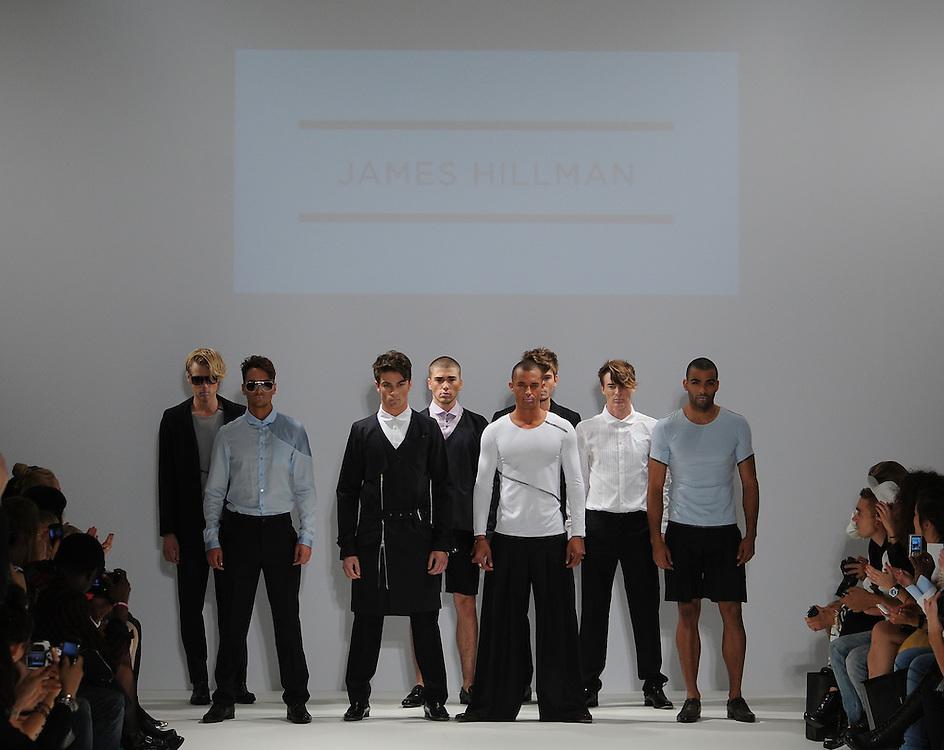 Models walk the runway for James Hillman Spring 2012 fashion show during London Fashion Week, London, UK. 17/09/2011 Anne-Marie Michel/CatchlightMedia