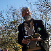 I listen to each preaching and i heard the atheist are more disturbing speaker althought no fighting and the Cowboy preaching Christianity talk more nonsense although is quite peaceful. The Muslim preaching 'Islam' about eating pig, A little boy challenge, I like bacon, Why is it worng, and the Jewish 'Tanakh' are much peaceful just singing. Fact: everyone is indoctrination by God or patriotism. Its a sad world in the 21 century. at the Speakers' Corner on Sunday 4th December 2016, Hype park,London,UK. Photo by See Li