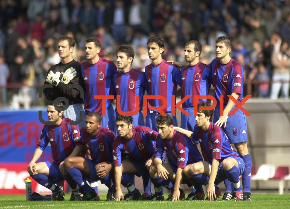 Turkish soccer...<br /> Turkish soccer super league team Trabzonspor team. <br /> Photo by Aykut AKICI/TurkSporFoto