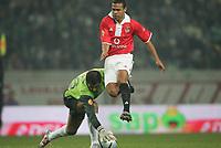 Fotball<br /> Portugal 2004/2005<br /> Sporting Lisboa v Benfica<br /> 08.01.2005<br /> Foto: Nuno Alegria/AFCD/Digitalsport<br /> NORWAY ONLY<br /> <br /> GEOVANNI #11 and RICARDO #76