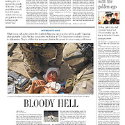 """""""Bloody Hell"""" story in The Toronto Star on civilian casualties and the war in Kandahar in 2010."""