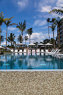 The adults only swimming pool at the Andaz hotel in Wailea, Maui, Hawaii