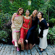 Wedding celebrations are good reason for college friends to get together.