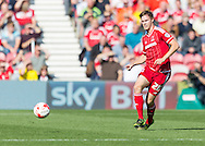 Middlesbrough FC defender Tomas Kalas in action during the Sky Bet Championship match between Middlesbrough and Leeds United at the Riverside Stadium, Middlesbrough, England on 27 September 2015. Photo by George Ledger.