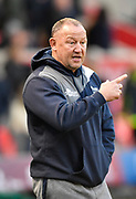 Sale Sharks Director of Rugby Steve Diamond before a Gallagher Premiership match at the AJ Bell Stadium, Eccles, Greater Manchester, United Kingdom, Friday, April 5, 2019. (Steve Flynn/Image of Sport)