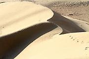 wind shaped Desert sand dune