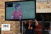 Spain v Chile at Camino, King's Cross.<br /> <br /> Copyright: Jonathan GoldbergWorld Cup 2010 watched  on London TV<br /> Spain v Chile, Bar Camino, King's Cross