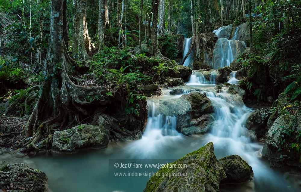 Air Terjun Oehala, Soe, Kabupaten Timor Tengah Selatan, Nusa Tenggara Timur, Indonesia.