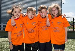 Children pose for a photo during the Bristol Sport Festival  - Photo mandatory by-line: Dougie Allward/JMP - Mobile: 07966 386802 - 06/06/2015 - SPORT - Multi-Sport - Bristol - SGS Wise Campus - Bristol Sport Festival Of Youth Sport - Festival Of Youth