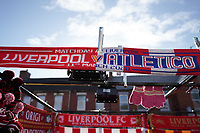 Football - 2019 / 2020 UEFA Champions League - Round of Sixteen, Second Leg: Liverpool (0) vs. Atletico Madrid (1)<br /> <br /> Matchday scarf , at Anfield.<br /> <br /> <br /> COLORSPORT/TERRY DONNELLY