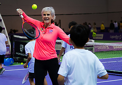 October 21, 2018 - Kallang, SINGAPORE - WTA Charities COME PLAY SC Global Teacher & Student clinic with Judy Murray at the 2018 WTA Finals tennis tournament (Credit Image: © AFP7 via ZUMA Wire)