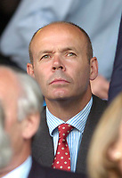 Photo: Leigh Quinnell.<br /> Luton Town v Southampton. Coca Cola Championship.<br /> 09/08/2005. Sir Clive Woodward watches the game from the stand.