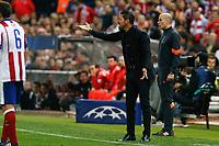 Atletico de Madrid's Diego Pablo Simeone during quarterfinal first leg Champions League soccer match at Vicente Calderon stadium in Madrid, Spain. April 14, 2015. (ALTERPHOTOS/Victor Blanco)