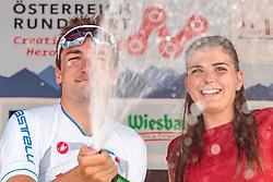 05.07.2017, Altheim, AUT, Ö-Tour, Österreich Radrundfahrt 2017, 3. Etappe von Wieselburg nach Altheim (226,2km), im Bild Elia Viviani (ITA, Nationale Italiana) // Elia Viviani (ITA, Nationale Italiana) during the 3rd stage from Wieselburg to Altheim (199,6km) of 2017 Tour of Austria. Altheim, Austria on 2017/07/05. EXPA Pictures © 2017, PhotoCredit: EXPA/ JFK