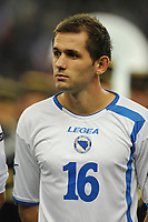 FOOTBALL - UEFA EURO 2012 - QUALIFYING - GROUP D - FRANCE v BOSNIA - 11/10/2011 - PHOTO GUY JEFFROY / DPPI - SENAD LULIC (BOS)
