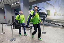 Marcel Rodman and Ken Ograjensek at departure of Slovenian Olympic team to PyeongChang, on February 6, 2018 in Aerodrom Ljubljana, Cerklje na Gorenjskem, Slovenia. Photo by Matic Klansek Velej / Sportida