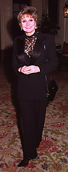 TV presenter MISS ANGELA RIPPON, at a dinner in london on 15th December 1998.MNA 52