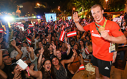 18.08.2016, Österreich Haus, Rio de Janeiro, BRA, Rio 2016, Olympische Sommerspiele, im Bild Fabian Hambuechen (D) Olympiasieger Turnen // during the Rio 2016 Olympic Summer Games at the Österreich Haus in Rio de Janeiro, Brazil on 2016/08/18. EXPA Pictures © 2016, PhotoCredit: EXPA/ Erich Spiess