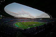 General view of the pitch before the Rugby World Cup  final match between England and South Africa at the International Stadium ,  Saturday, Nov. 2, 2019, in Yokohama, Japan. South Africa defeated England 32-12. (Florencia Tan Jun/ESPA-Image of Sport)