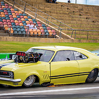 Darren Strong is still licensing his HT Monaro in Supercharged Outlaws.  96fm's Power Palooza II at Perth Motorplex. Photo by Phil Luyer, High Octane Photos