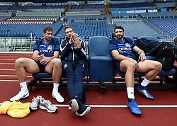 November 23, 2018 - Rome, Italy - Rugby Italy captains run - Cattolica Test Match.Tommaso Benvenuti and Tito Tebaldi  with the technical staff at Olimpico Stadium in Rome, Italy on November 23, 2018. (Credit Image: © Matteo Ciambelli/NurPhoto via ZUMA Press)