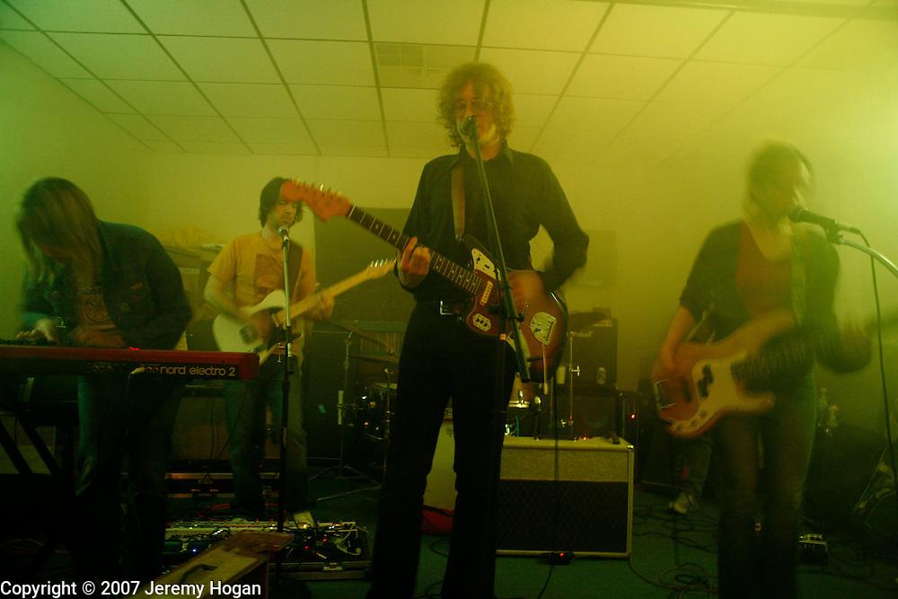 The Besnard Lakes perform at Landlocked Records in Bloomington, Indiana.