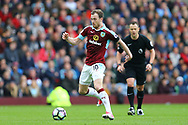 Ashley Barnes of Burnley in action. Premier League match, Burnley v Tottenham Hotspur at Turf Moor in Burnley , Lancs on Saturday 1st April 2017.<br /> pic by Chris Stading, Andrew Orchard sports photography.