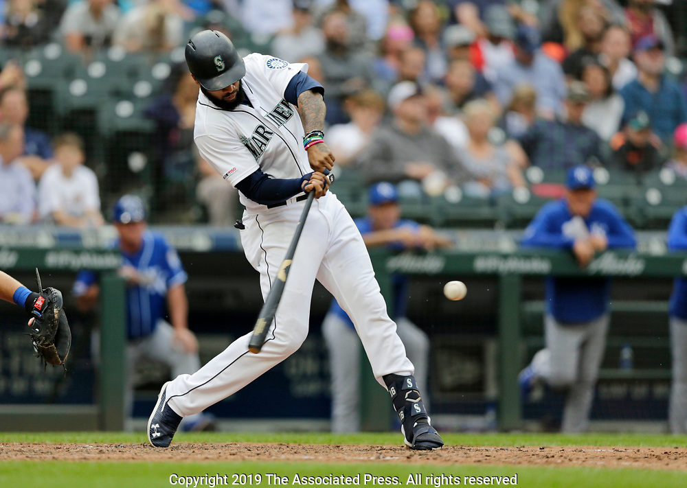 Kansas City Royals Seattle Mariners during a baseball game, Wednesday, June 19, 2019, in Seattle. (AP Photo/John Froschauer)<br /> <br /> Seattle Mariners Kansas City Royals during a baseball game, Wednesday, June 19, 2019, in Seattle. (AP Photo/John Froschauer)