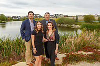 Outdoor family portraits around a beautiful community pond in Airdrie, AB.<br /> <br /> ©2019, Sean Phillips<br /> http://www.RiverwoodPhotography.com