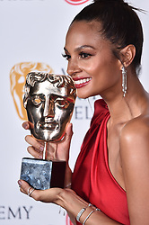 Alesha Dixon with the BAFTA for Entertainment Programmes for BGT, at the Virgin TV British Academy Television Awards 2018 held at the Royal Festival Hall, Southbank Centre, London.